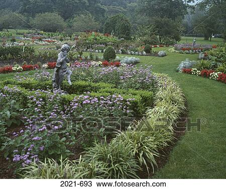 Stock Photo Of Statues In A Garden New Jersey State