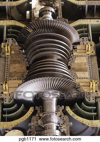 Stock Photography Of Steam Turbine Rotor Uncovered During