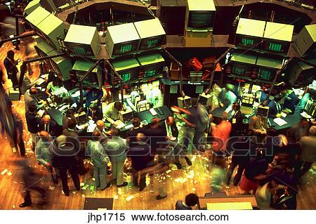 Stock Image   Trading Floor Of The New York Stock Exchange.   DA36437.  Fotosearch