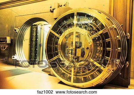 Stock Photo Of Open Bank Vault Showing Workings Of Huge