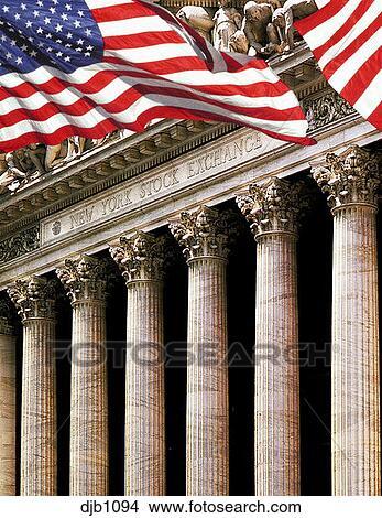 Banque de photo ext rieur de les bourse new york vu for Bourse exterieur
