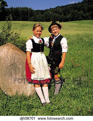 Stock Photography Of Bavarian Children In Traditional