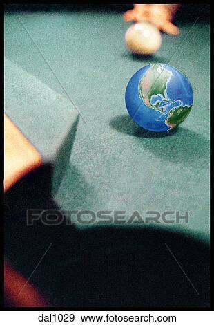 Stock fotografie aanzicht van hoek zak van een person s hand met poel signaal mikkend - Poel van blanco hoek ...