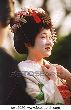 Fille geisha Banque d'Images 3 544 - Banque de Photos