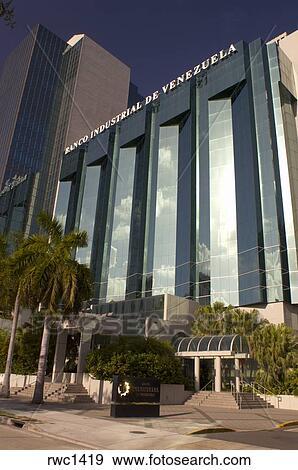 Stock photograph of banco industrial de venezuela bank for Banco exterior venezuela