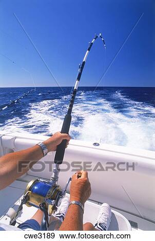 Stock photograph of deep sea fishing off kona coast of for Kona deep sea fishing
