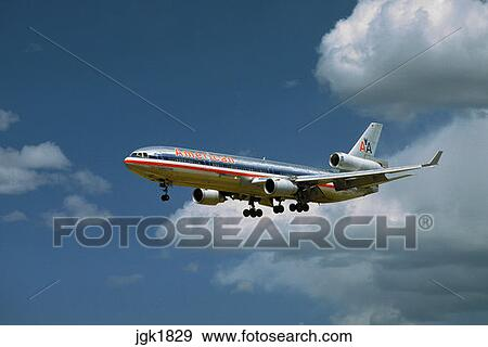 Stock Photograph of An American Airlines MD-11 or Douglas ...