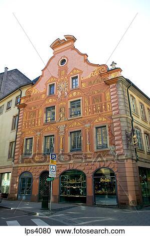 Banques de photographies france alsace strasbourg maison a trompe - Trompe l oeil maison ...