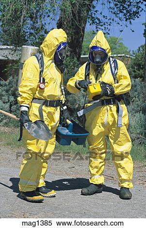 Stock Image Of Hazmat Team Prepares To Approach Toxic