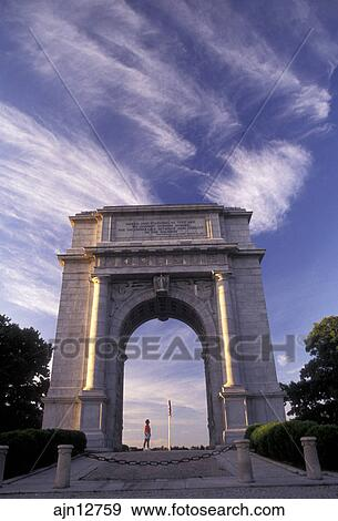 Stock Photograph Of Valley Forge Park Arch Valley Forge Pennsylvania National Memorial Arch