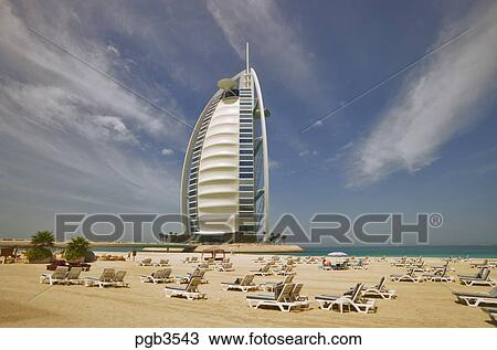 Stock photo of burj al arab hotel an icon of dubai built for Sail shaped hotel dubai
