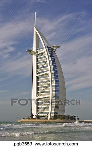 Stock photo of burj al arab hotel an icon of dubai built for The sail hotel dubai