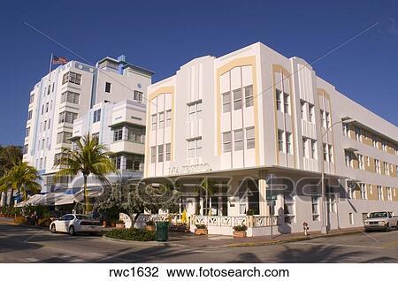 stock photo of miami beach florida usa the majestic hotel on