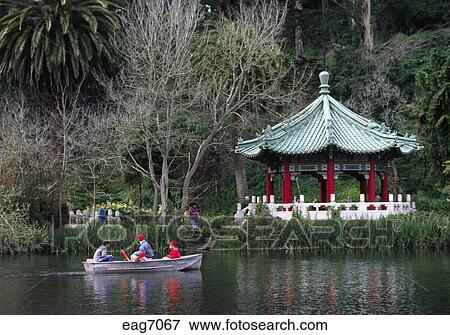 Picture of BOATING on LAKE at JAPANESE TEA GARDEN in GOLDEN GATE ...