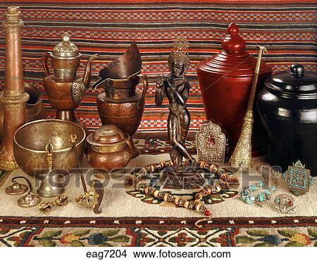 stock foto asiatische artefakte rituell. Black Bedroom Furniture Sets. Home Design Ideas