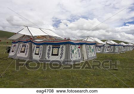Picture - Tibetan tents with Buddhist designs are used for accomadation Litang Horse Festival in & Pictures of Tibetan tents with Buddhist designs are used for ...