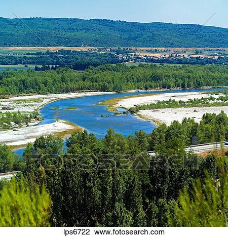 Archivio fotografico durance valle fiume haute for Haute durance