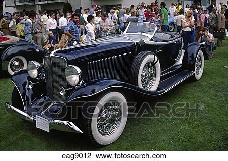 stock photo of detail of depression era roadster at the concourse d 39 elegance pebble beach. Black Bedroom Furniture Sets. Home Design Ideas