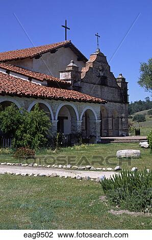 Stock Photo Of Front Of Spanish Style Mission San Antonio