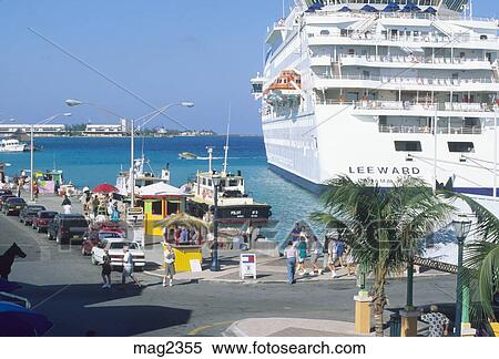 Stock image of cruise ship port of call nassau bahamas mag2355 search stock photos mural - Cruise port nassau bahamas ...