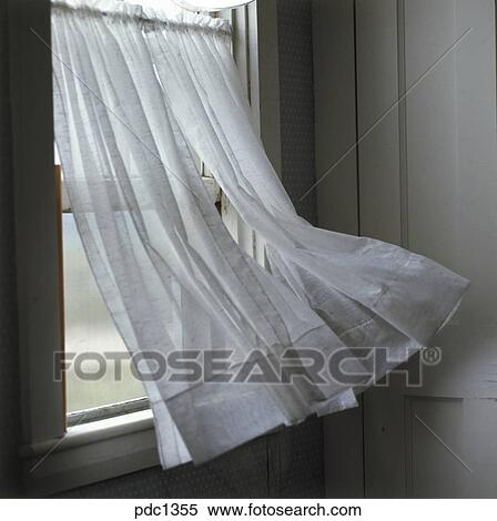 Stock image wind blowing a curtain on a window fotosearch search