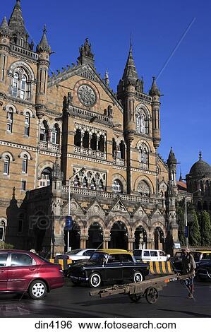 Chhatrapati Shivaji Terminus Formerly Victoria Victorian Gothic Revival Architecture Blended With Indian Traditional Built Between