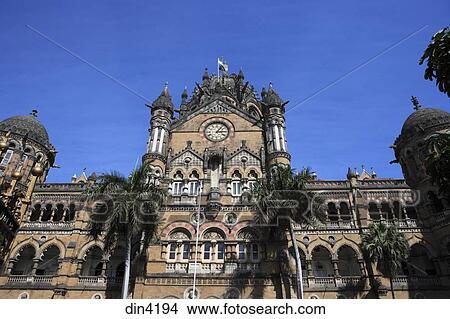 Stock Photo Of Chhatrapati Shivaji Terminus Formerly Victoria Victorian Gothic Revival Architecture Blended With Indian Traditional