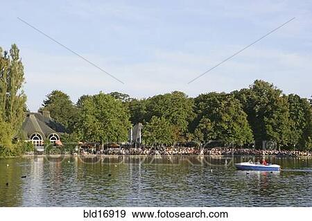 Banque de photographies lac kleinhesseloher voir dans for Jardin anglais allemagne