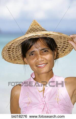 美丽, 泰国人, 妇女肖像