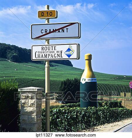 Immagine strada firma e gigante bottiglia vigne for Bottiglia in francese