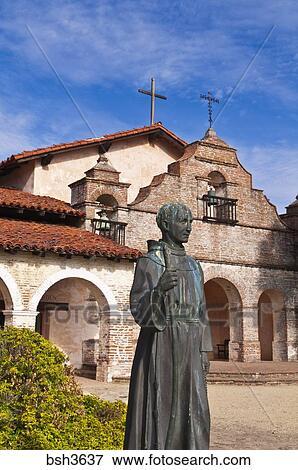 Picture Of Father Serra Statue Mission San Antonio De