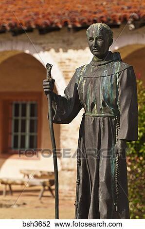 Stock Photo Of Father Serra Statue Mission San Antonio De