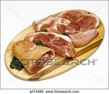 Sliced Pork Shoulder Raw Sliced Pork Shoulder on