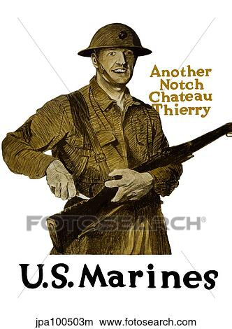 Drawings of Vintage WWI poster of a smiling soldier marking ...