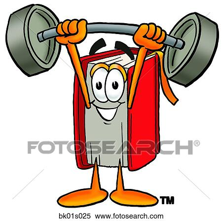 Clipart of Book lifting weights high bk01s025 - Search Clip Art ...
