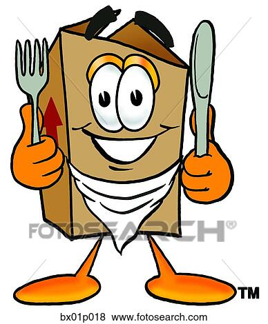 clip art of box eating bx01p018 search clipart illustration rh fotosearch com clipart eating breakfast clip art eating dinner