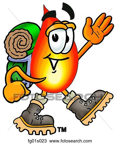 clipart of flame hiking fg01s023 search clip art illustration rh fotosearch com hiking clipart png hiking clipart pictures