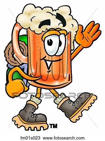 Clipart of Beer mug hiking fm01s023 - Search Clip Art ...