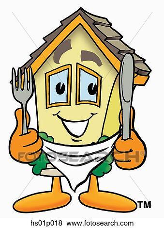 Clipart maison manger hs01p018 recherchez des for Manger a la maison