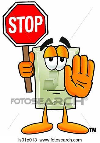 Lichtschalter clipart  Clipart - leichter schalter, mit, stopschild ls01p013 - Suche Clip ...
