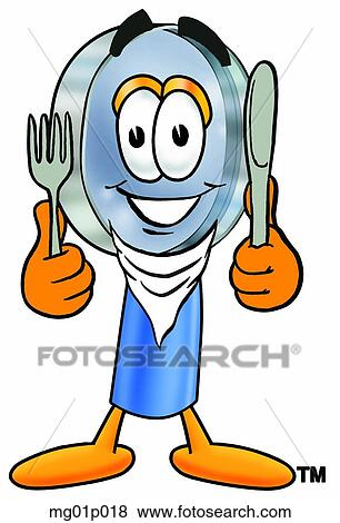 clip art of mag glass eating mg01p018 search clipart illustration rh fotosearch com clipart heating clip art eating an elephant