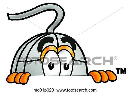 剪贴画 - 老鼠, 偷看, 结束, 顶端