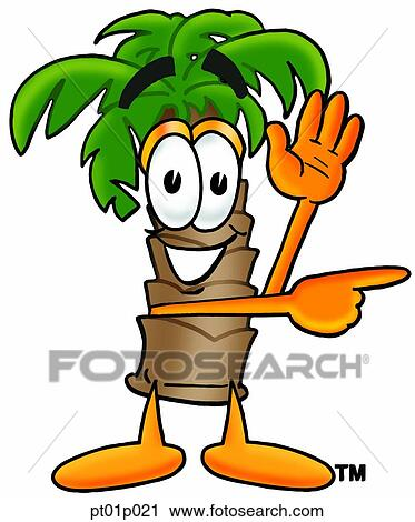 clipart of palm tree waving and pointing pt01p021 search clip art rh fotosearch com pointing clipart gif painting clip art black and white