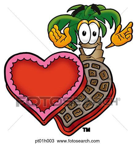 Clipart palmier et chocolats pt01h003 recherchez des clip arts des illustrations des - Palmier clipart ...