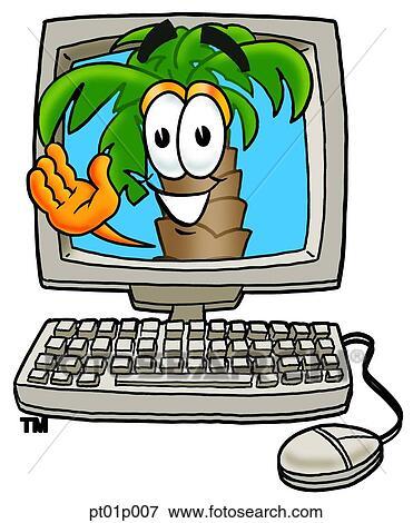 Clipart palmier dans informatique pt01p007 recherchez des cliparts des illustrations des - Palmier clipart ...