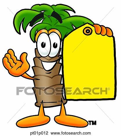 Clipart palmier tiquette prix pt01p012 recherchez des clip arts des illustrations des - Palmier clipart ...