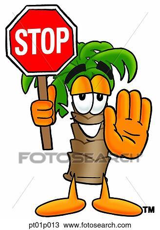 Clipart palmier stop pt01p013 recherchez des clip arts des illustrations des dessins - Palmier clipart ...