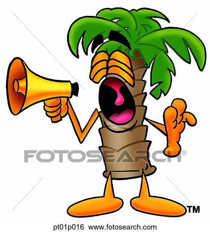 Clipart palmier porte voix pt01p016 recherchez des cliparts des illustrations des - Palmier clipart ...