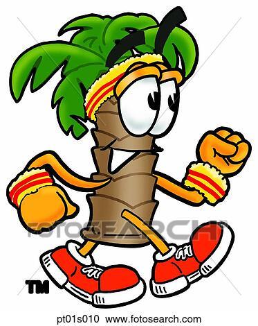Clipart palmier marche pt01s010 recherchez des clip arts des illustrations des dessins et - Palmier clipart ...