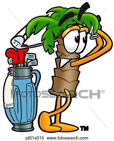 Clipart palmier jouer golf pt01s015 recherchez des clip arts des illustrations des - Palmier clipart ...